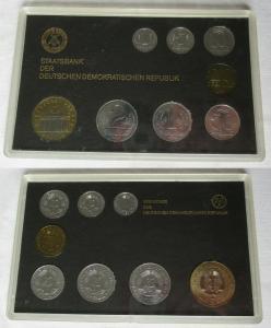 Kompletter DDR Kursmünzensatz (KMS) mit 5 Mark 1986 Stgl. in OVP (105179)
