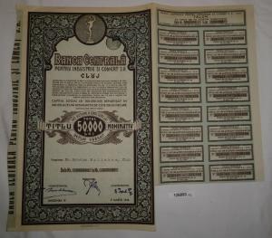 50000 Lei Aktie Banca Centrală Pentru Industrie Şi Comert S.A. 1946 (126893)