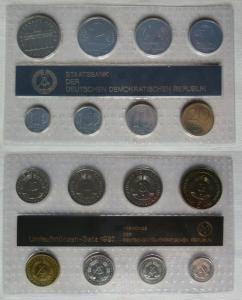 Kompletter DDR Kursmünzensatz (KMS) mit 5 Mark 1987 Stgl. in OVP (105983)