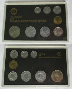 DDR Kursmünzensatz 1985 1 Pfennig -2 Mark KMS ST mit Medaille Gelehrte (104259)
