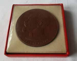 DDR Porzellan Medaille Porträt Feliks E. Dzierzynski (104619)