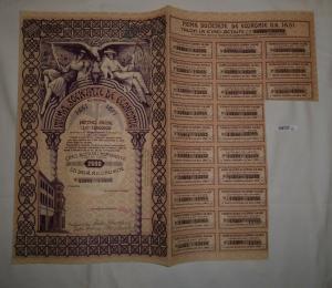 2500 Lei Aktie Prima Societate de Economie Bukarest 15. Februar 1940 (126737)