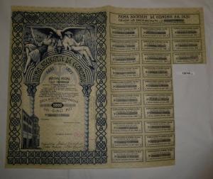 5000 Lei Aktie Prima Societate de Economie Bukarest 15. Februar 1940 (126749)