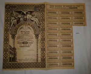 1000 Lei Aktie Prima Societate de Economie Bukarest 15. Februar 1940 (127205)