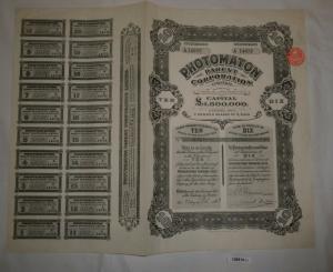 1 Pfund 10 Aktien Photomaton Parent Corporation London 23. Juli 1928 (126914)