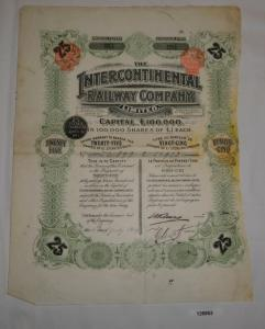 1 Pfund 25 Aktien The Intercontinental Railway Company London 6.7.1904 (126862)