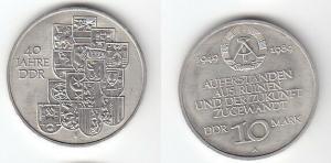 DDR Gedenk Münze 10 Mark 40.Jahrestag der DDR 1989 (113898)