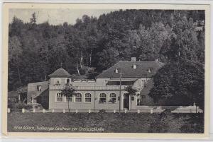 87831 Ak Grün bei Asch Sudetengau Gasthaus zur Grenzschänke 1939