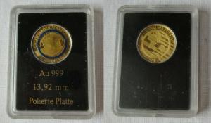 Goldmedaille Die Erde / Unser Blauer Planet - PP - 0,5 Gramm 999er Gold (115519)