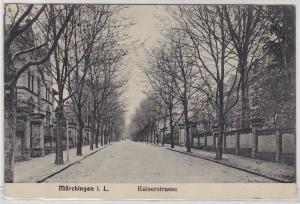 85087 Ak Mörchingen in Lothringen Kaiserstrasse 1916