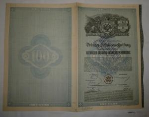 100 Gulden Prämien-Schuldverschreibung Boden-Credit-Anstalt Wien 1889 (126975)