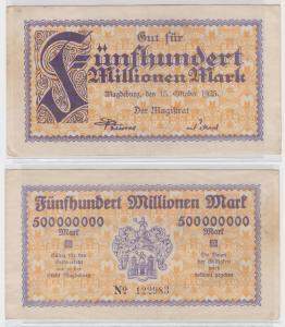 500 Millionen Mark Banknote Stadt Magdeburg 15.10.1923 (122234)