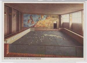 89835 Militär AK Marine Ehrenmal Laboe, Ehrenhalle mit Skagerrakmodell um 1940