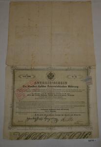 100 Gulden Anteilsschein K.K. priv. österr. Credit-Anstalt für Handel (126718)