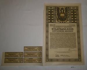 100 Kronen Schuldverschreibung Österreichische Kriegsanleihe Wien 1917 (127172)