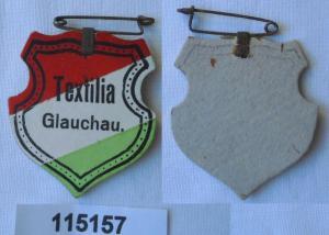 Altes Papp Abzeichen Studentika Verbindung Textilia Glauchau um 1930 (115157)
