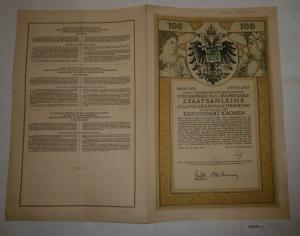 100 Kronen Schuldverschreibung Österreichische Kriegsanleihe Wien 1916 (127241)