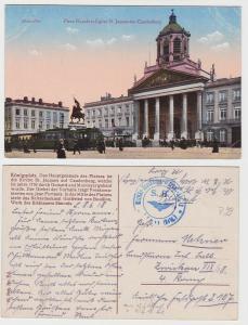 87098 Feldpost Ak Löwen Belgien Militär Eisenbahn Werkst. Abt.3 1918