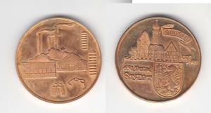 Seltene DDR Bronze Medaille 650 Jahre Stadt Eisfeld 1325-1975 (110409)