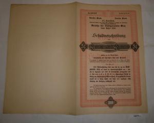 1000 Kronen Schuldverschreibung Anleihen der Stadtgemeinde Graz 1920 (126773)