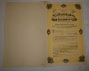 200 Kronen Schuldverschreibung Anlehen der Landeshauptstadt Graz 1902 (127052)