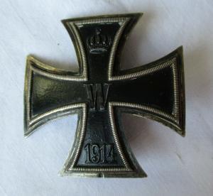 Seltenes gewölbtes Eisernes Kreuz 1.Klasse 1914 1.Weltkrieg (119310)