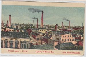 93054 Ak Lodz Gesamtansicht mit Fabrikanlagen um 1920
