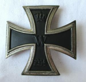 Seltenes gewölbtes Eisernes Kreuz 1.Klasse 1914 1.Weltkrieg (113668)