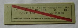 Belgien 1912 Markenheftchen OBP België Postzegelboekje Michel 91 + 92 (113440)