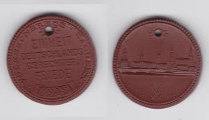 Seltene Meissner Porzellan Medaille Volkskongress Sachsen 1948 (133659)