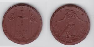 Porzellan Medaille Krieger-Gedächtnis-Kirche Meissen Los No. 6875 1922 (133339)