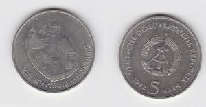 DDR Gedenk Münze 5 Mark Die Wartburg bei Eisenach 1982 (133383)