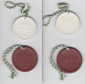 Seltene Meissner Porzellan Medaillen Wörlitz 965 - 1965 Zitat Goethe (133220)