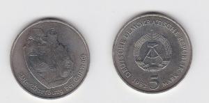 DDR Gedenk Münze 5 Mark Die Wartburg bei Eisenach 1982 (133520)