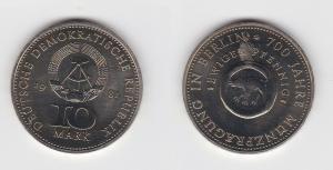 DDR Gedenk Münze 10 Mark 700 Jahre Münzprägung in Berlin 1981 (133407)