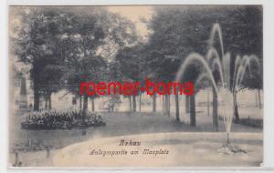 84259 Ak Rehau Anlagenpartie am Maxplatz mit Springbrunnen 1926