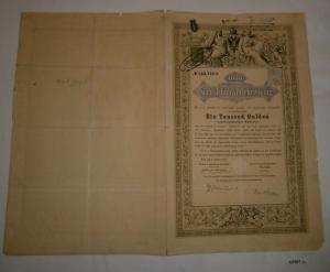 1000 Gulden Schuldverschreibung K. K. Direction der Staatsschuld 1868 (127047)