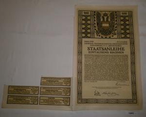 1000 Kronen Staatsanleihe Österreichische Kriegsanleihe Wien 1.11.1917 (126902)