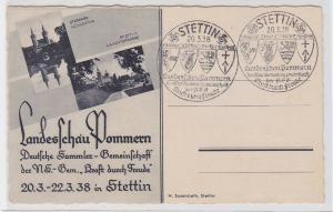 90514 AK Landesschau Pommern - Stargard Mühlentor, Stettin Hakenterrasse 1938