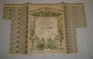 1 Aktie Compañia General de Tabacos de Filipinas Barcelona 27.04.1977 (128288)