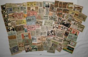 Sammlung mit 100 Banknoten Notgeld Deutsches Reich um 1921 (132909)
