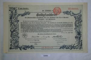 100 Goldmark Pfandbrief der Pommerschen Landschaft Stettin 2.April 1925 (129352)