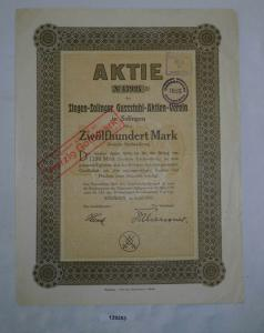 1200 Mark Aktie Siegen-Solinger Gussstahl Aktien Verein April 1922 (129253)