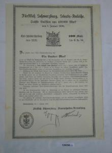 100 Mark Fürstlich Schwarzburgische Staats-Anleihe Sondershausen 1898 (129250)