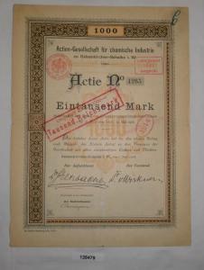 1000 Mark Aktie AG für chemische Industrie Gelsenkirchen-Schalke 1906 (128479)