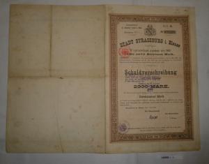 200 Mark Schuldverschreibung Stadt Strassburg im Elsass 1. Juli 1903 (128983)