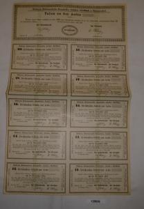 Talon Aktie Dörstewitz-Rattmannsdorfer Braunkohlen-Industrie 01.07.1882 (128636)