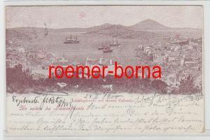 73578 Ak Uns Saluto da Lussinpiccolo Mali Lošinj col Monte Calvario 1906