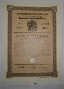 100 Mark Grossherzoglich Mecklenburg-Schwerinsche Landes-Anleihe 1905 (128299)