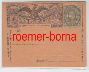 17633 seltener Ganzsachen Brief Mexiko 1 Centavo um 1900